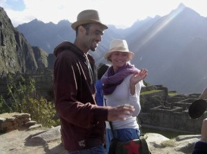 Sol Guy in Peru with Cameron Diaz
