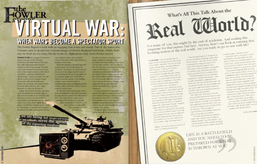 A look at war and its relation with visual media. (Click to view)