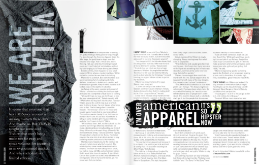 Fashion Profile: We go behind the scenes of T-shirt maker Villains. (Click to view)